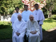 Sitting from left: Frs. Leo and Richard; Standing from left: Bro. Rex, Fr. Joseph and Bro. John Ray
