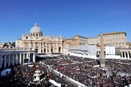 St.Peter's Square  Wednesday, Feb. 27, Pope Benedict's last audience