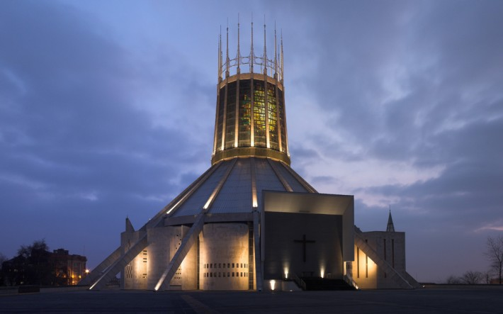 Liverpool Cathedral, began (1962) and completed (1967) when Archbishop Beck was in office