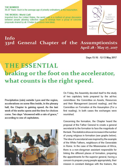 33rd General Chapter of the Assumptionists - Days 15 & 16