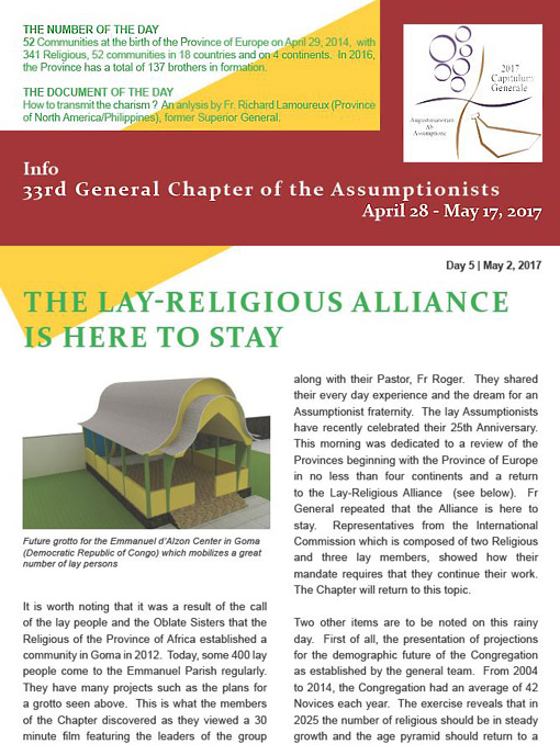 Info - 33rd General Chapter of the Assumptionists