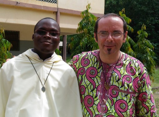 Fr. Benoit Bigard (former novice-master and incoming provincial) and a recently professed brother in Togo