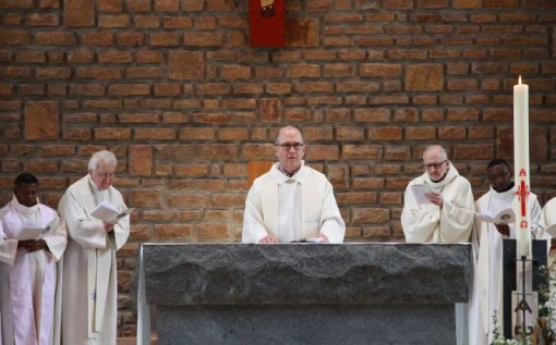 Opening celebration, Valpre, Friday, April 28 with three Superiors General, present and past