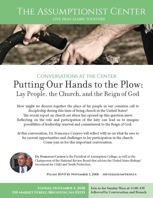Conversations at the Center - Putting Our Hands to the Plow