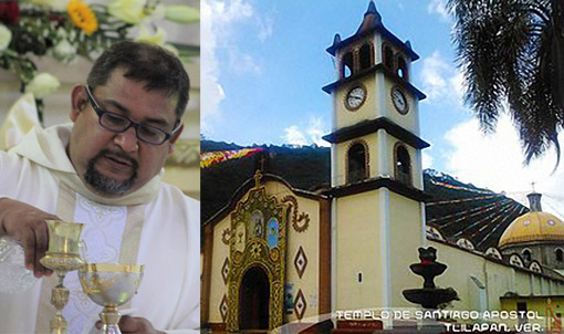 Fr. Oswaldo Garcia Sanchez A.A. pastor of St. James the Apostle Church in Tlilapan