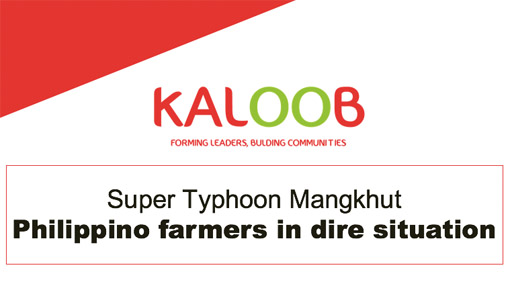 Super Typhoon Mangkhut - Kaloob solidarity call